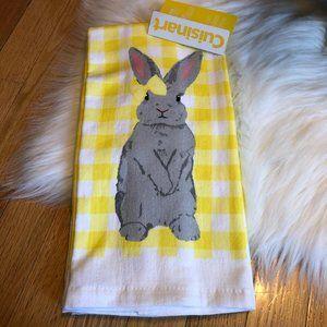 Cuisinart Yellow Rabbit Set of 2 Kitchen Towels